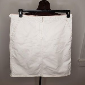 Land's End White Denim Skirt Size 18